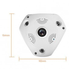 360 DEGREE FISHEYE VR CAMERA - 1.3MP WIFI (Plus FREE Memory Card)