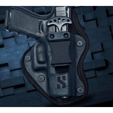 Compact Hybrid Gun Holster with Push dagger knife