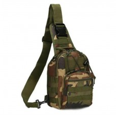 (CP CAMO) Military Single strap Backpack (Plus FREE Survival Band)
