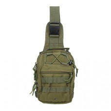 (Army Green) Military Single strap Backpack Plus FREE Survival Band