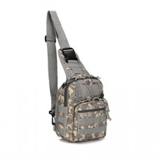 (ACU CAMO) Military Single strap Backpack (Plus FREE Survival Band)
