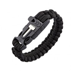 Survival Whistle Band (Black)